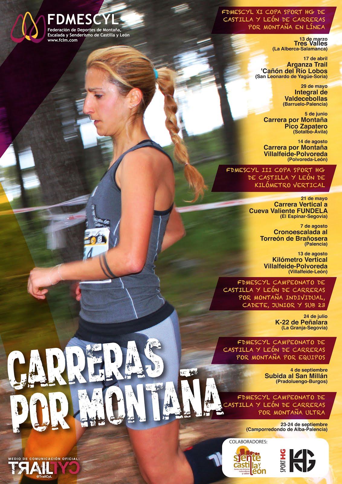 Cartel de la XI Copa Sport HG de Carreras por Montaña 2015. /FDMESCYL