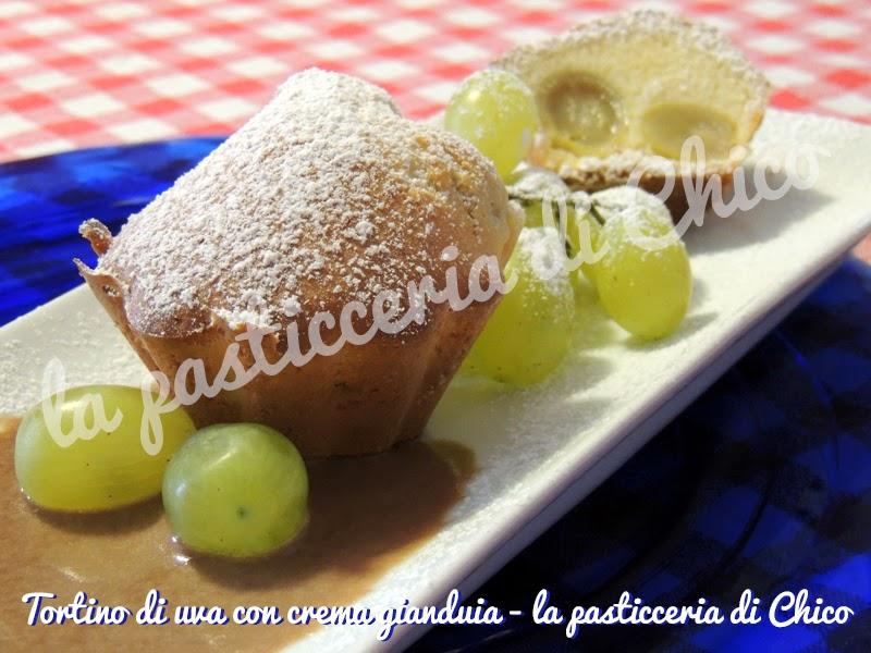 tortino di uva con crema gianduia
