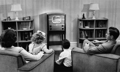 Back then, we had one TV, or radio, in the house - not a TV in every room. (Oma Loves U!)