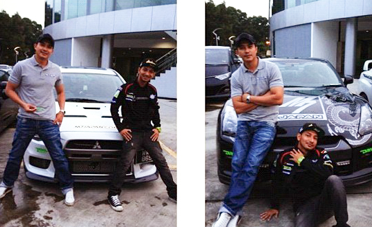 Kereta Mitsubishi EVO 10 Zizan Dan Skyline GTR R600 Aaron Aziz