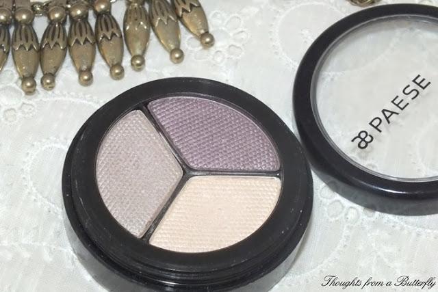 Review trio eyeshadow Paese
