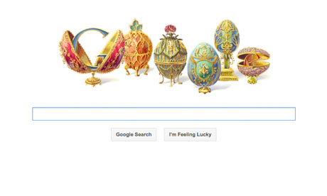 Today Doodle Google Peter Carl Faberge Bday 30052012