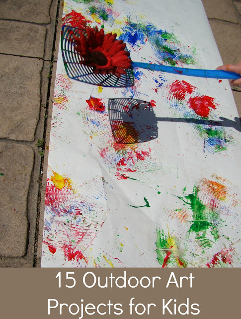 15 outdoor art activities kid 39 s co op reading confetti Fun painting ideas for toddlers