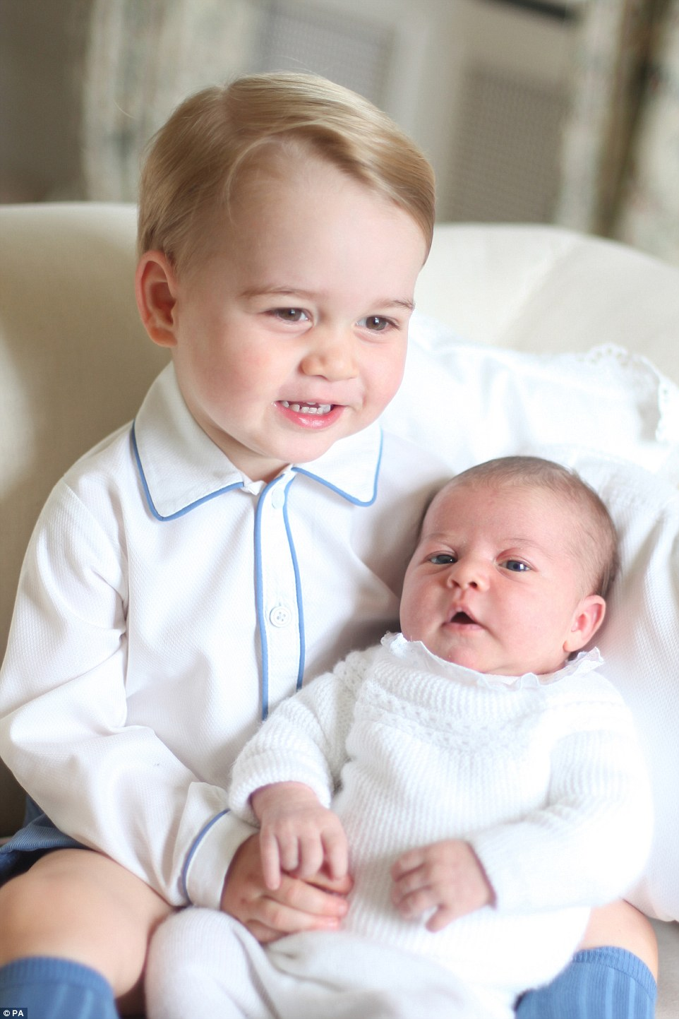 Prince George and Princess Charlotte in adorable pictures by Kate Middleton