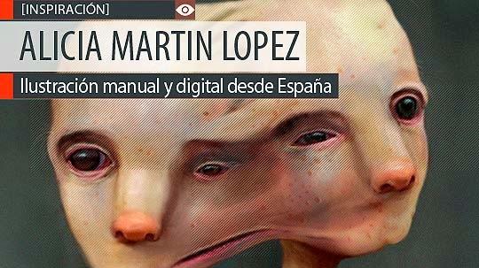 Ilustración manual y digital de ALICIA MARTIN LOPEZ