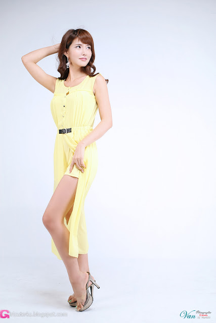 6 Cha Sun Hwa in Yellow-Very cute asian girl - girlcute4u.blogspot.com