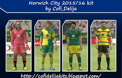 PES 2015 Norwich City 15/16 kit by Cofi_Delija