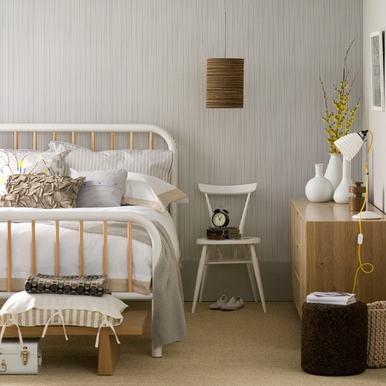 like this soft modern take on a cottage bedroom