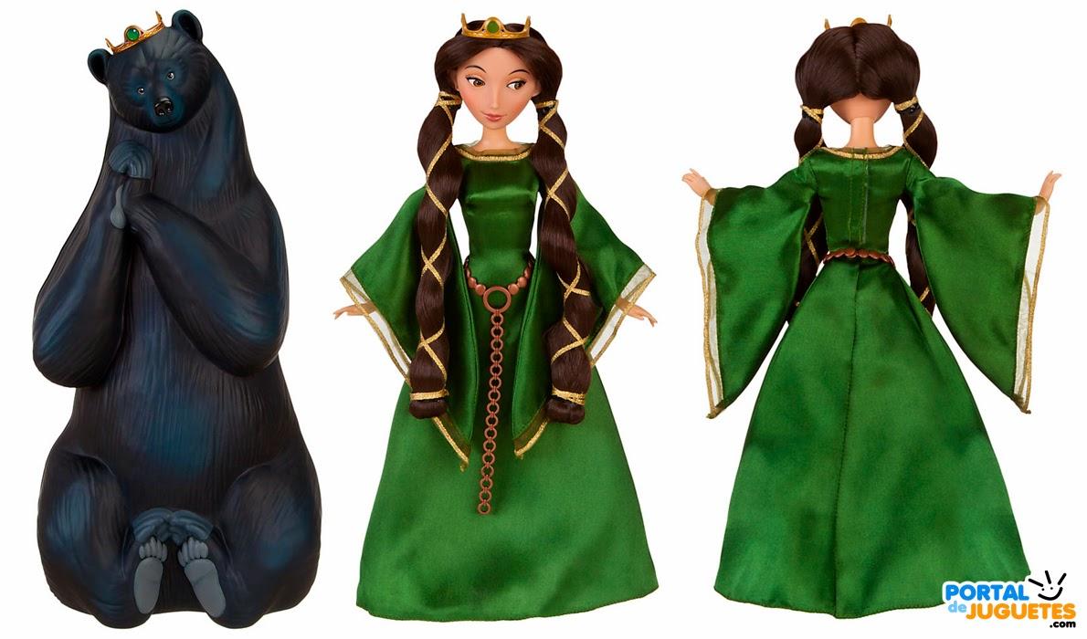 muñeca reina elinor brave set transformacion detalle