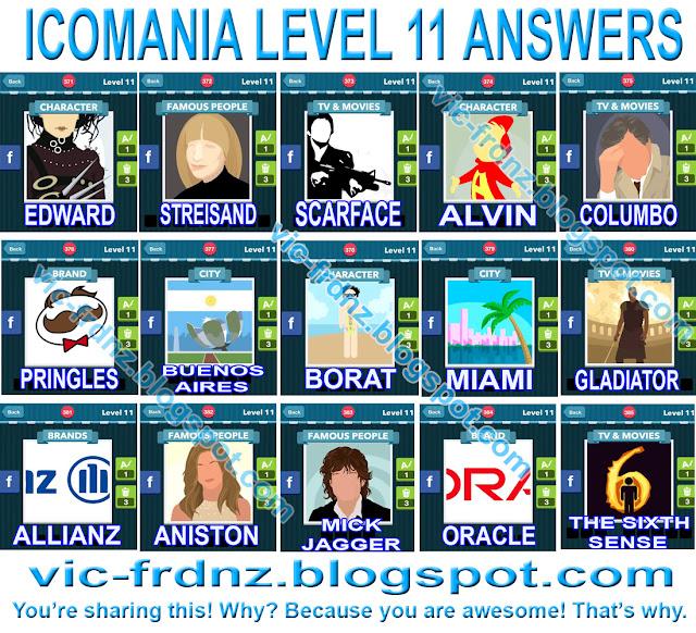 Icomania Level 11