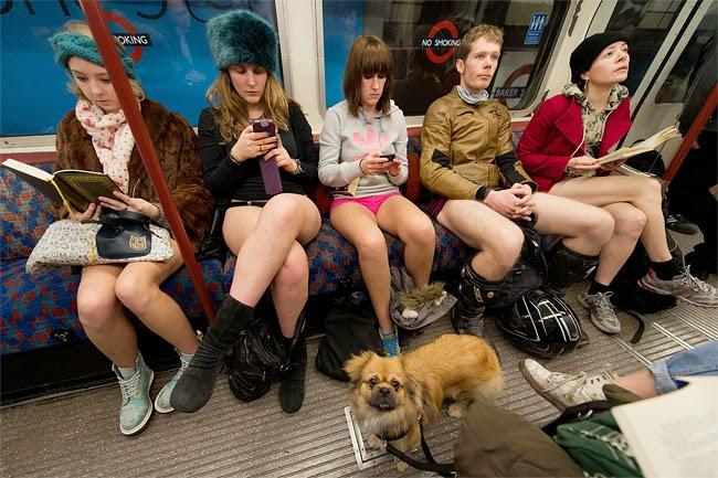 Hari Tanpa Celana di Dalam Kereta di Amerika