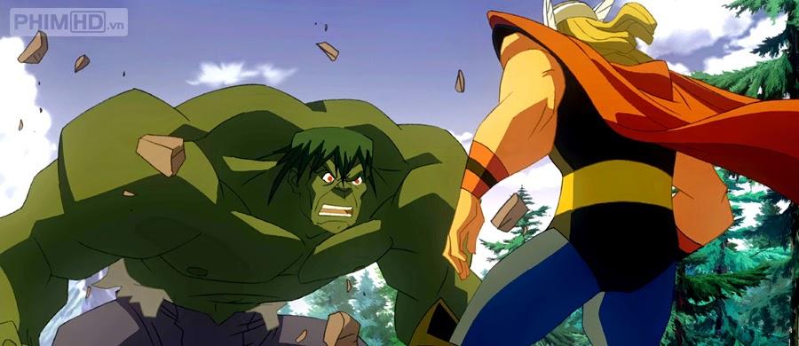 Phim Người Khổng Lồ Xanh Đánh Thần Búa VietSub HD | Hulk vs Thor 2009