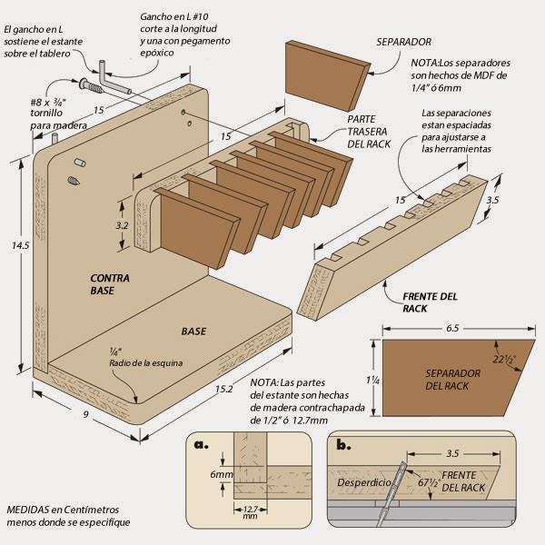 Herramientas para la madera hacer bricolaje es - Materiales de carpinteria ...