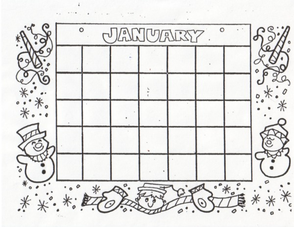 Kat's Almost Purrfect Home: Free Blank Calendars to Color and Fill in