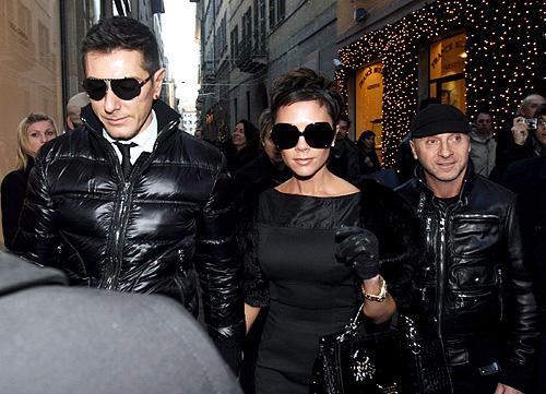 Victoria i David Backam także noaszą ubrania D&G