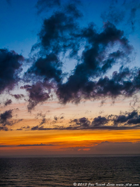 seashore sunrise, vertical
