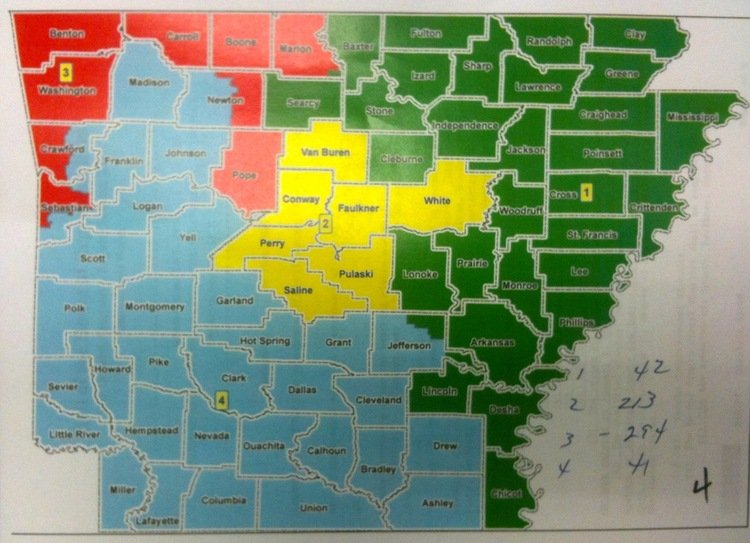 Jasper Arkansas To News That The Surrounding County Newton County Will Soon Be Split Between Two Of The State S Four Congressional Districts