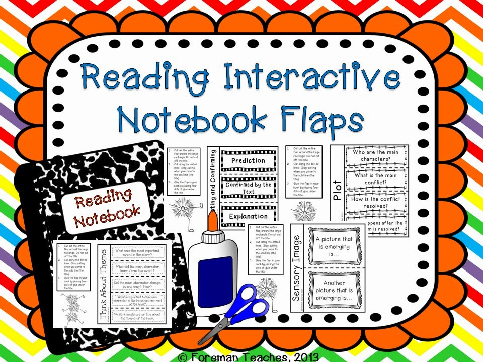 http://www.teacherspayteachers.com/Product/Reading-Interactive-Notebook-Flaps-912922