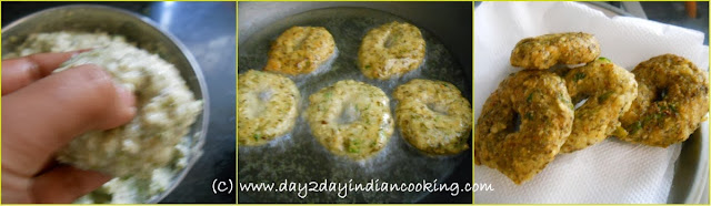 step 2 of moong dal vada