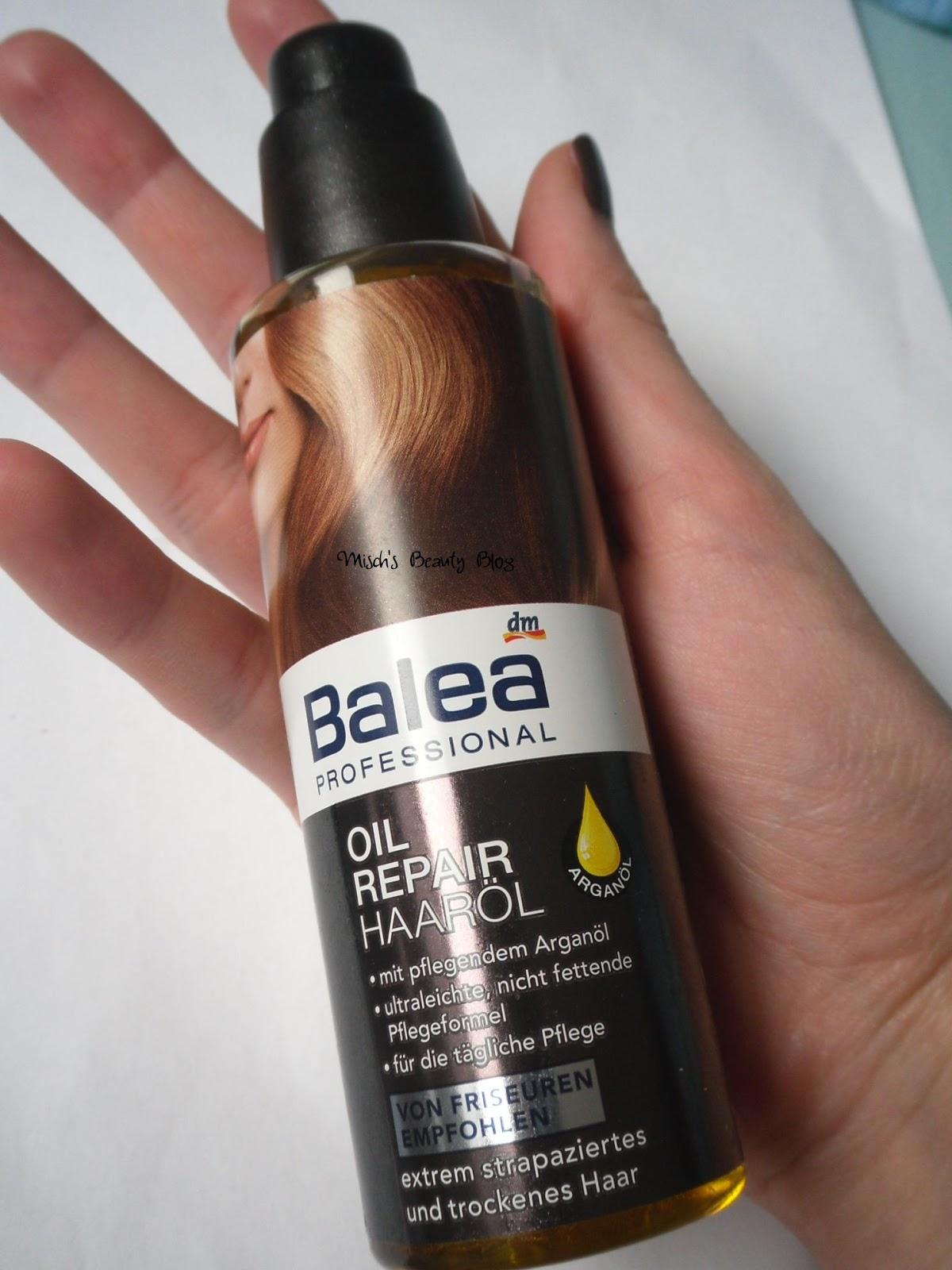 misch s beauty blog review balea professional oil repair hair oil