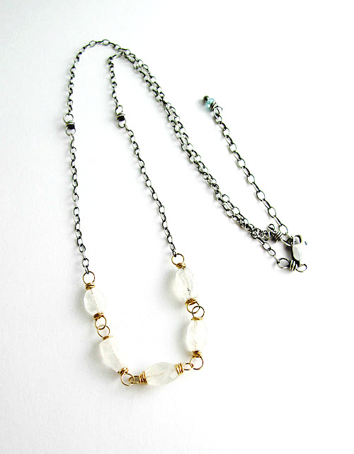 Winter Solstice Necklace by Beth Hemmila of Hint Jewelry