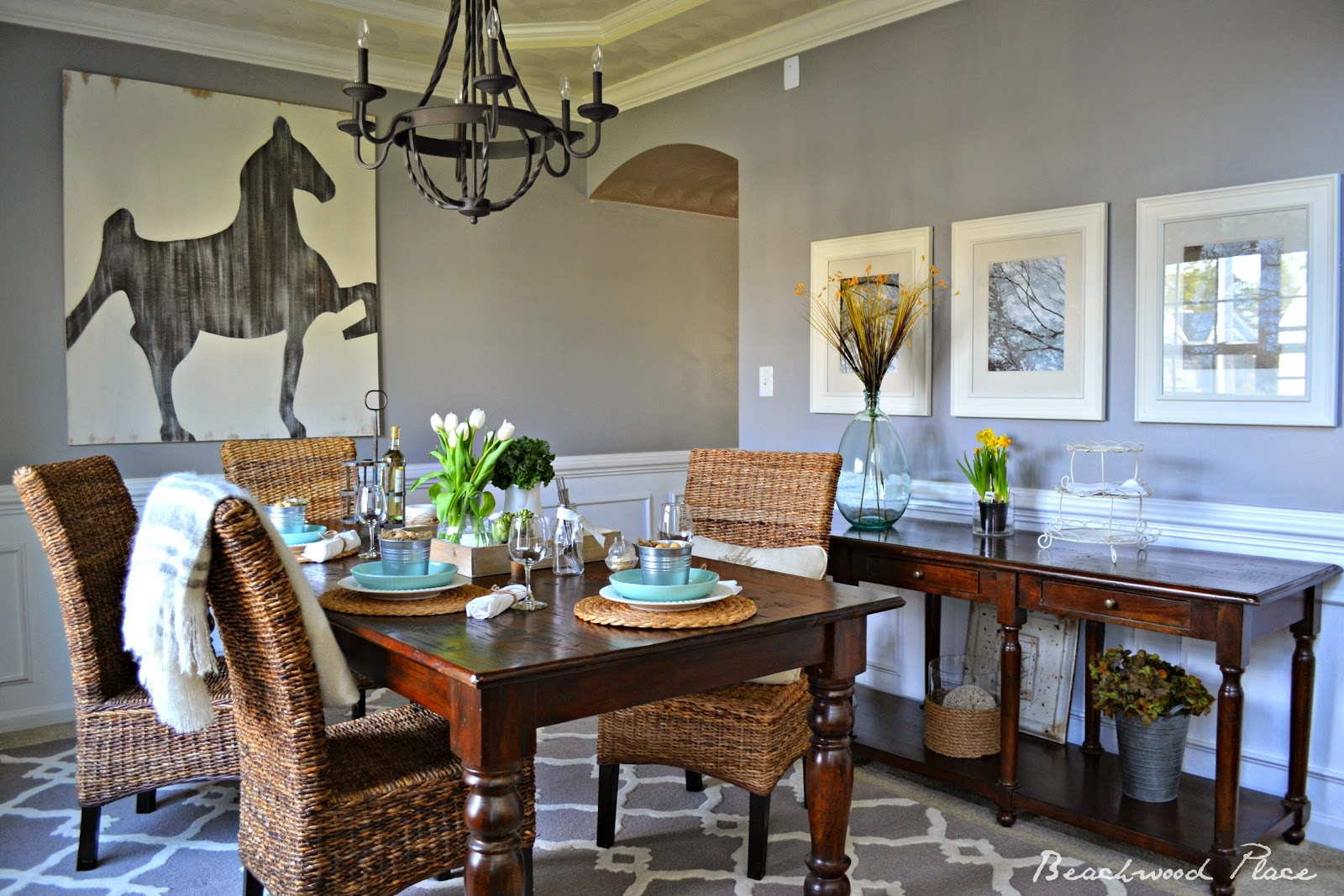 Beachwood Place Easter Dining - Beachwood dining table
