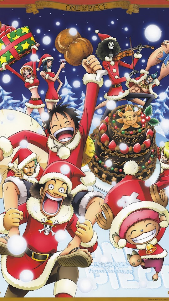 One Piece Merry Christmas   Galaxy Note HD Wallpaper