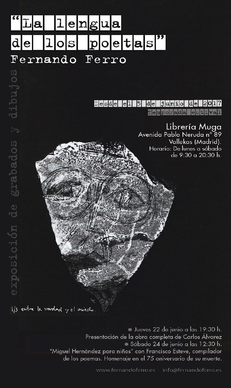 """""""La lengua de los poetas. Poesía, ¿para qué?"""": Exposición de grabados de Fernando Ferro"""