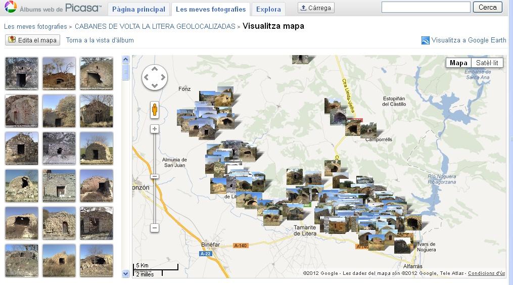 Mapa de las Cabanes
