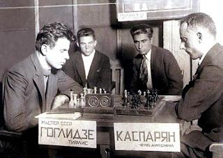 Partida de ajedrez Goglidze vs. Kasparian en Tbilisi 1937