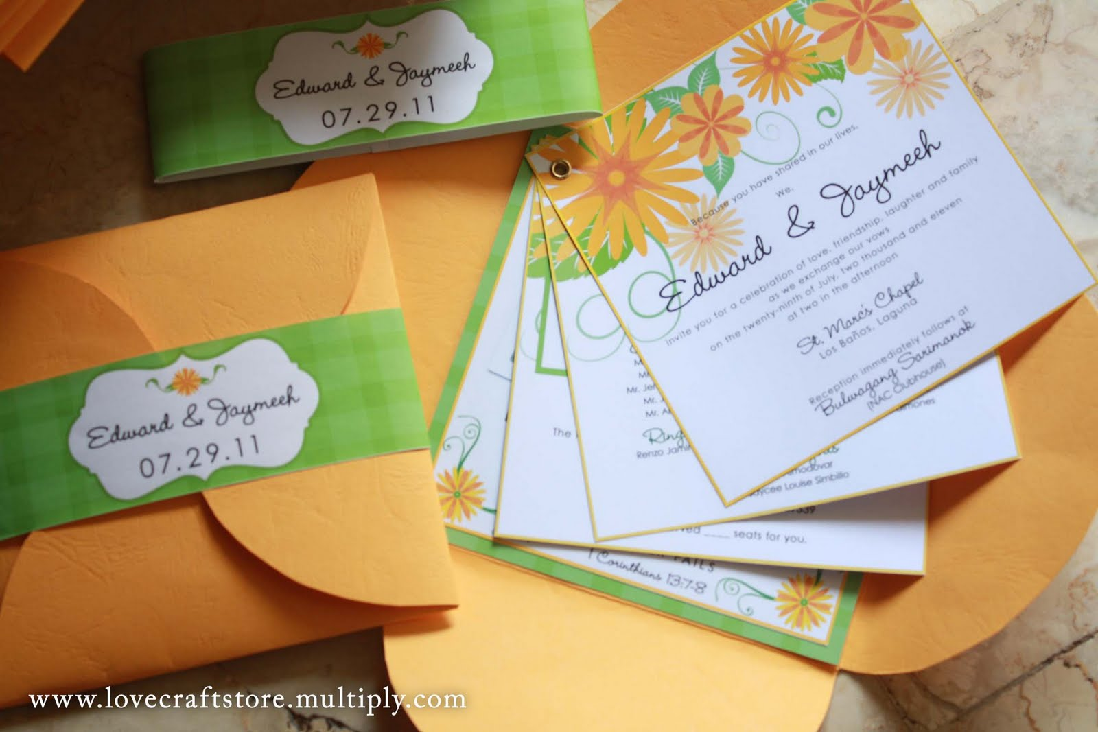 mix of randomness: Picnic-themed wedding invitation