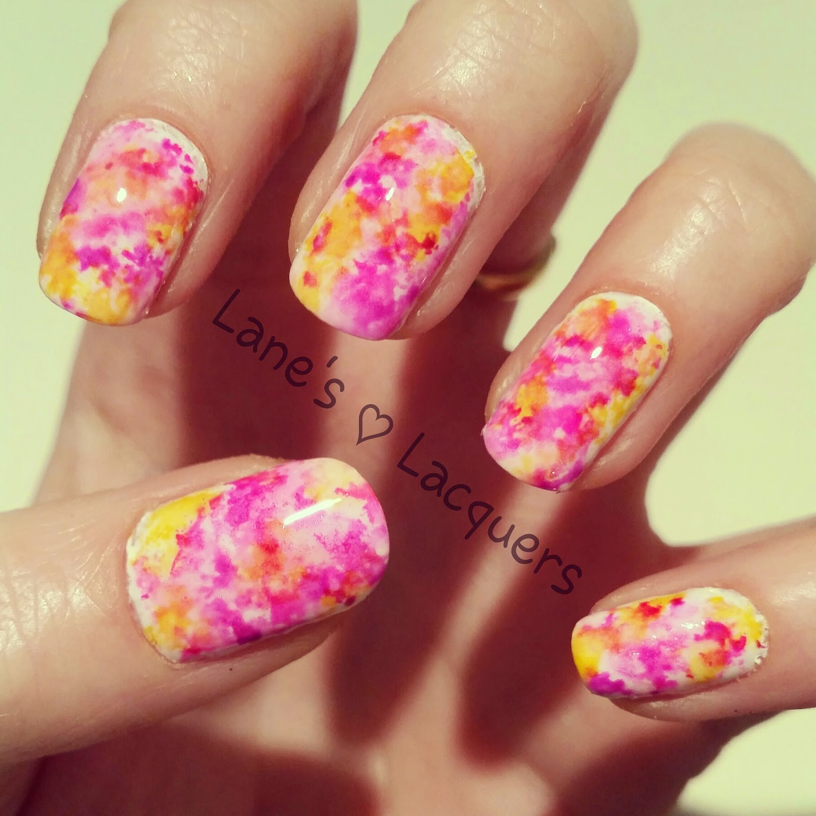 alcohol-ink-pink-purple-yellow-nail-art