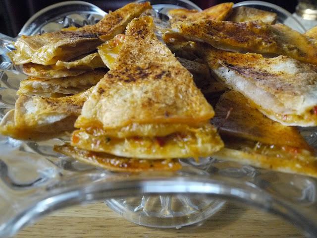 Tortillur með chili og ólífum