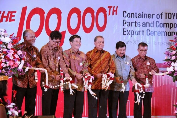 Toyota Indonesia Ekspor Komponen Mencapai 100.000 Kontainer