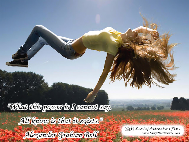 Free Law of Attraction Wallpaper with Quote by Alexander Graham Bell