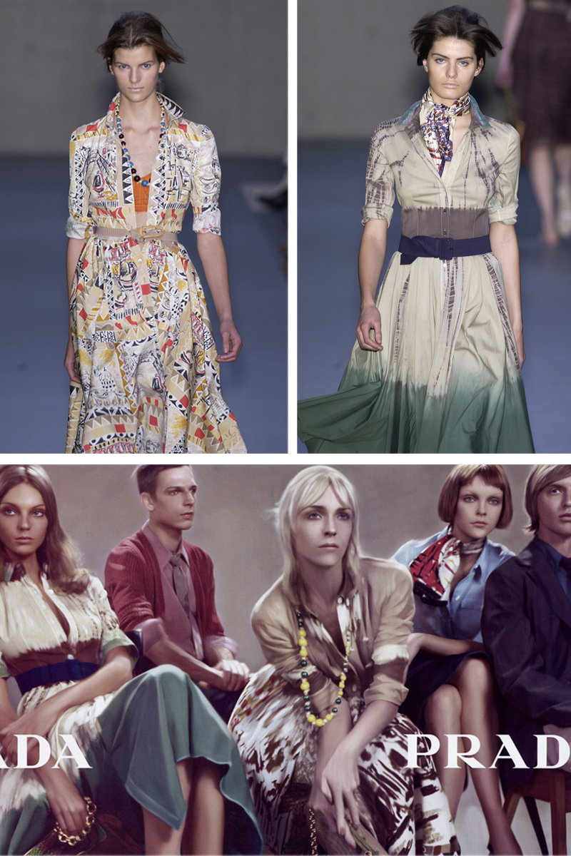 Prada Spring/Sumemr 2004 runway / collection details / Prada Spring/Summer 2004 campaign by Steven Meisel / The little book of Prada review, preview / best fashion books / Miuccia Prada short history / Italian fashion designers / fashion library / via fashioned by love / british fashion blog