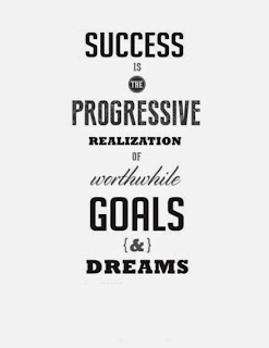 QUOTES BOUQUET: Success is the progressive realization of worthwile goals and dreams.""