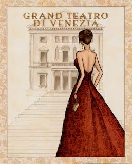 Chica vestida para el gran teatro de Venecia