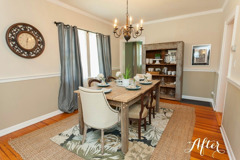 I Started With Two Farmhouse Style Pieces She Already Purchased: The Table  And Hutch. I Used Them As A Base And Added Bits Of Glam To Balance Out The  Rustic ...