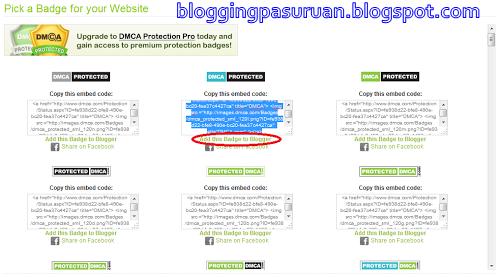 Cara Mendaftarkan Blog ke DMCA Protection