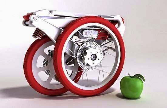 Uma bicicleta que cabe em uma pasta