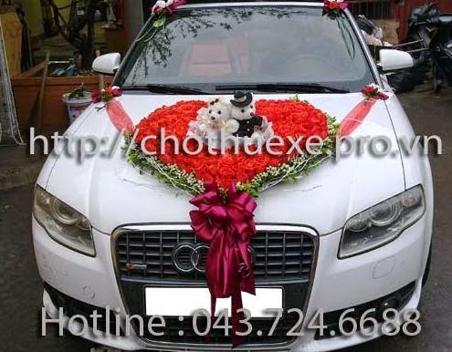 Cho thuê xe cưới mui trần Audi A4