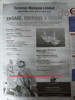 Kekosongan Jawatan Talisman Energy