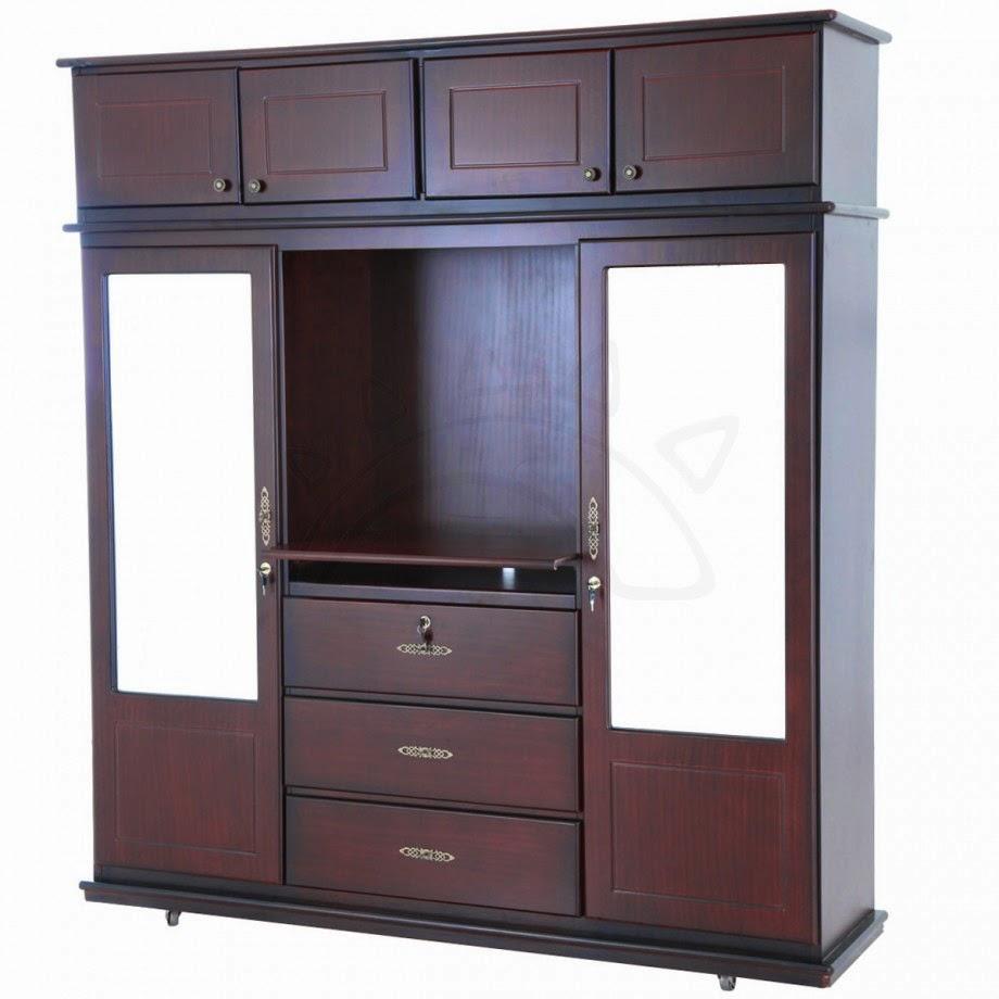 Los mejores muebles aquii ropero de madera for Espejos modernos en madera