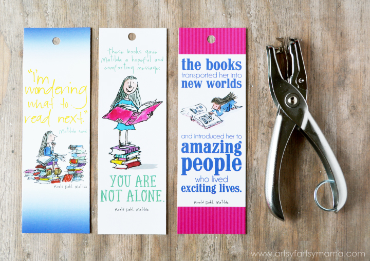 free printable roald dahl bookmarks and diy mini tassel tutorial at artsyfartsymamacom - Bookmark Design Ideas