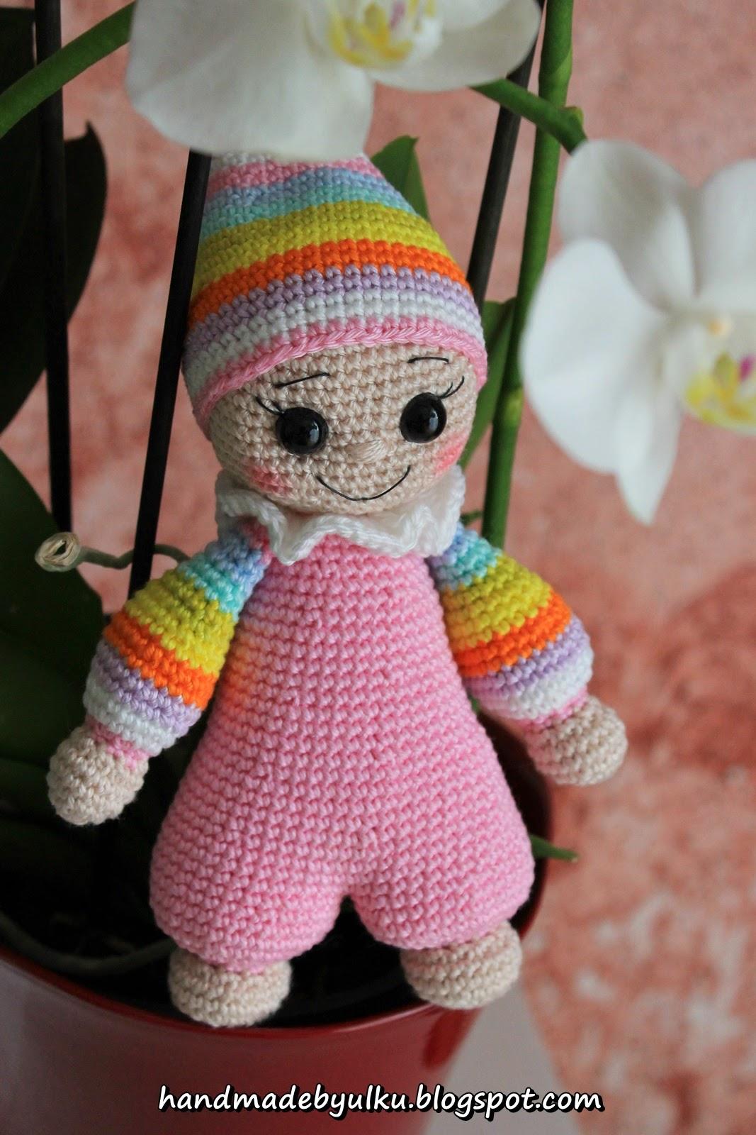 Handmade by ulku: Amigurumi Bunter Zwerg / Cuddly Baby