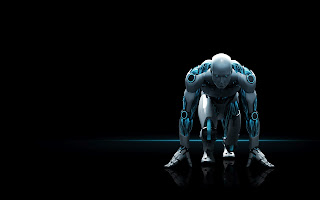 3D Eset Nod32 Robot Ready To Run HD Wallpaper