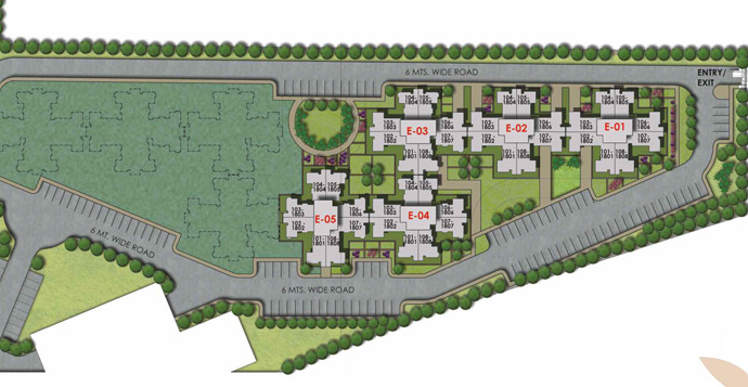 Elevation Key Plan : North town elevation residential properties in chennai