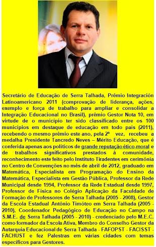 CURRÍCULO - PROFESSOR ISRAEL SILVEIRA