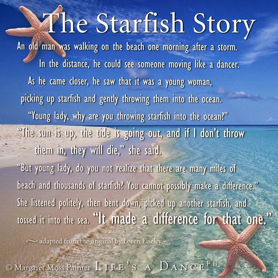 Linda 39 s peaceful place monday melody for Star fish story